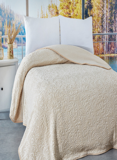 Komfort Home Çift Kişilik Emboss Battaniye 210x240 CM Renkli
